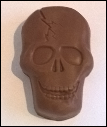 butterfinger skull chocolate