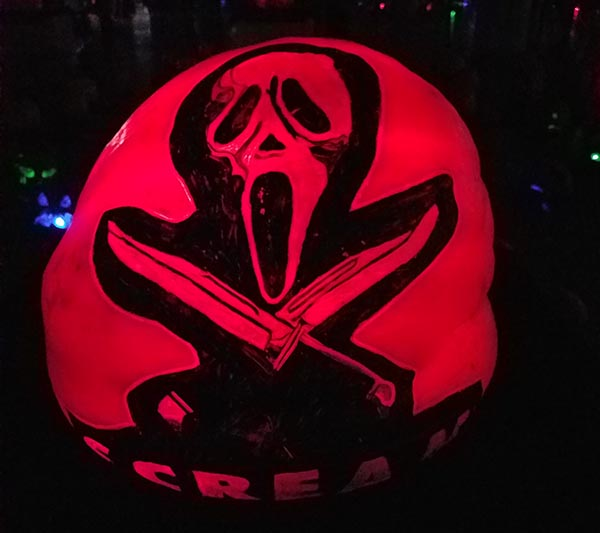 scream pumpkin