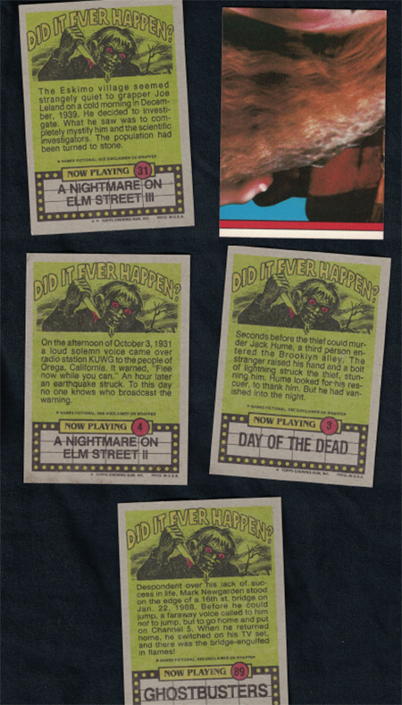 fright flicks trading cards