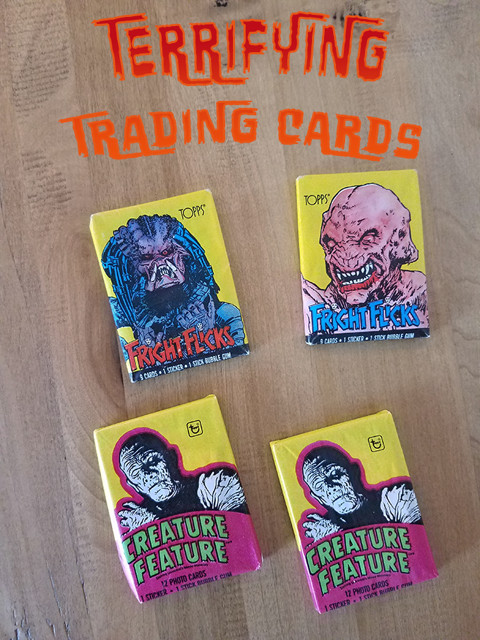 horror trading cards