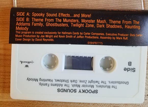 hallmark spooky sounds cassette tape