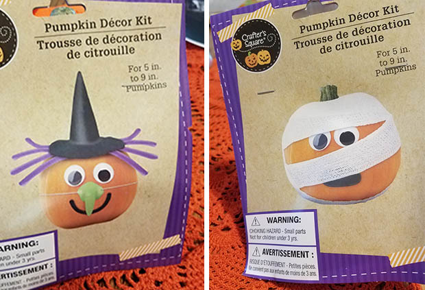 pumpkin witch and mummy kits