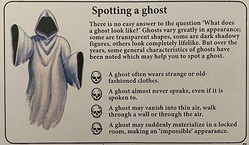 how to spot a ghost