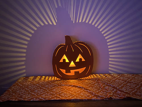 target light up jack o lantern