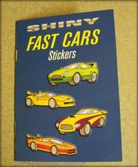 shiny fast cars stickers