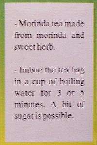 noni tea brewing